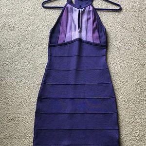 bebe Dresses - Purple Bandage Dress